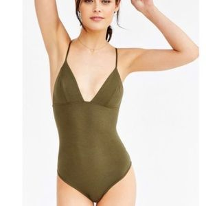 Green Triangle Bodysuit- Urban Outfitters